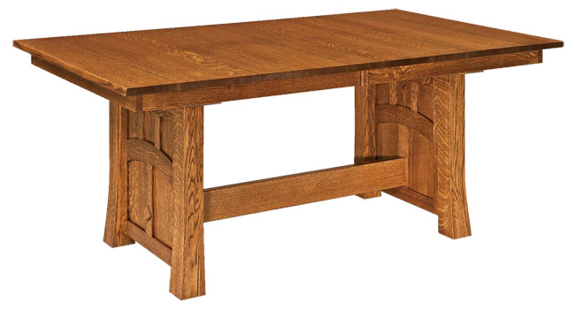 White oak kitchen table amish furniture showcase