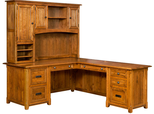 A Solid Wood Desk For Your Home Office Amish Furniture Showcase