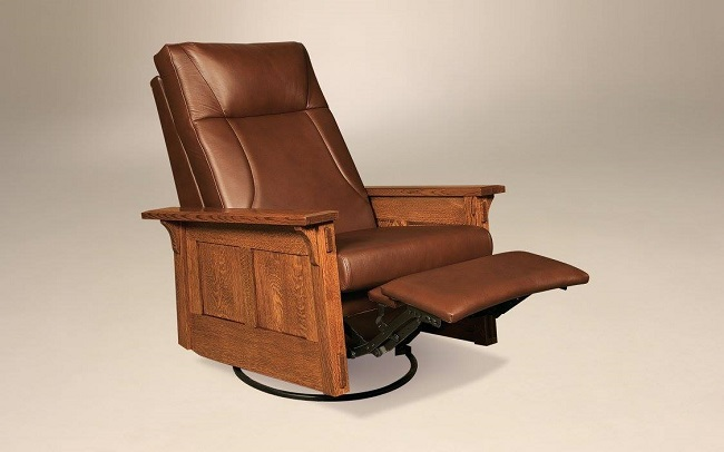 Kick Back in a Wooden Recliner
