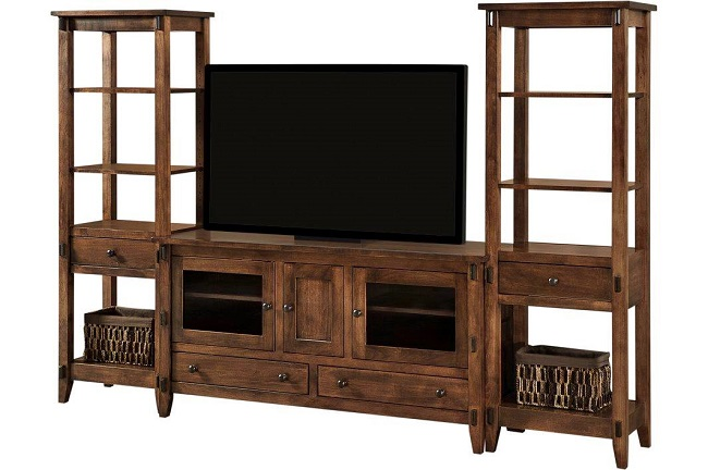 Solid Wood Entertainment Center for Your Storage Needs