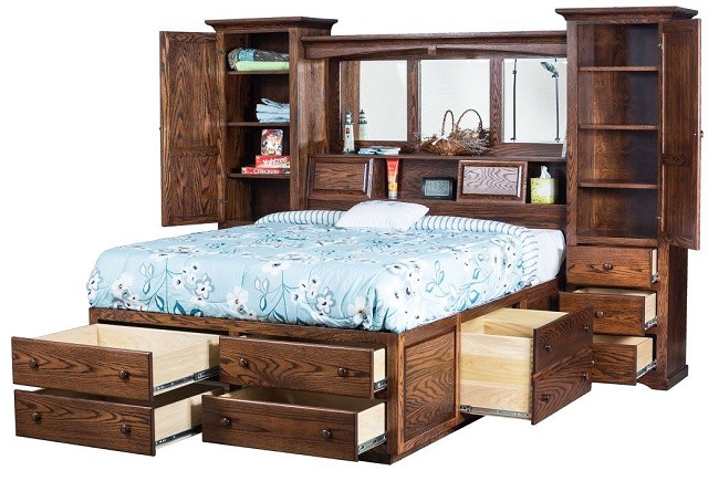 The Perfect Bed Frame with Solid Wood Storage