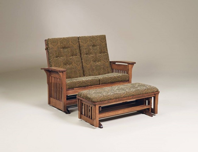 Get Comfy in a Solid Wood Loveseat with Ottoman