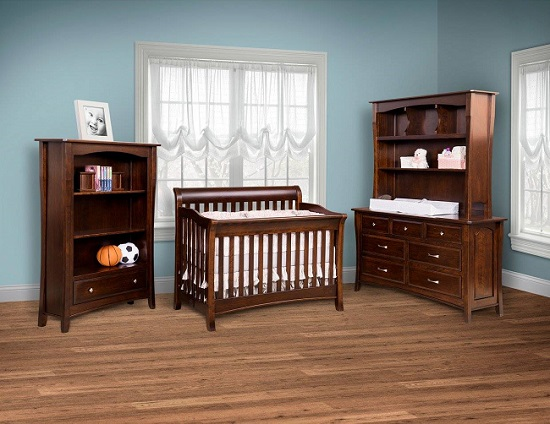 Beautiful Wooden Furniture For Your Baby 39 S Nursery Amish Furniture Showcase