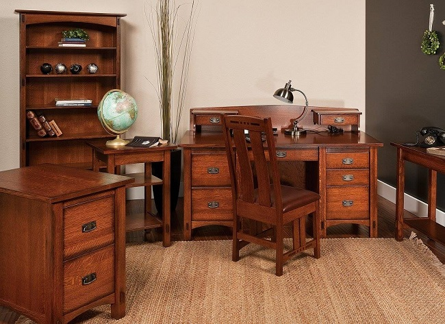 Solid Wood Office Furniture - Amish Furniture Showcase in Frisco