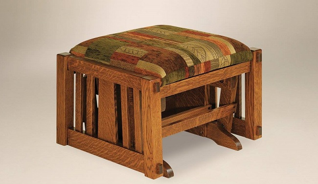 Prop Up Your Feet on a Solid, Handcrafted Ottoman