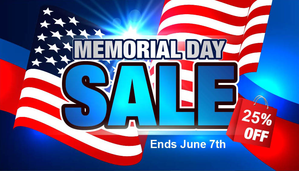Memorial Day Sale! Save 25%