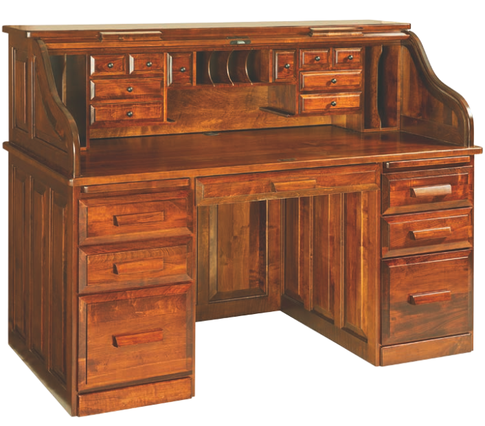 Enjoy a Classic Roll-Top Desk for Your Home Office