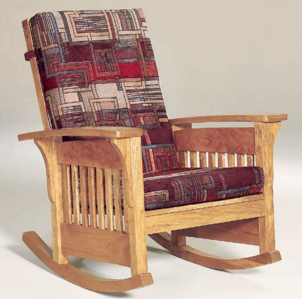 Curl Up Beside The Fire In A Comfy Wooden Rocker